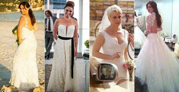 vestidos de noiva das novelas
