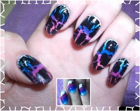 Nail Art com esmalte colorido