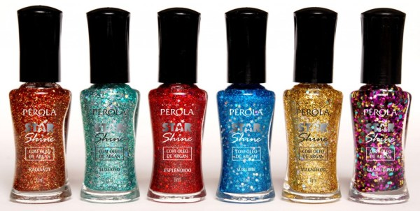 top coat Star Shine, efeito Luxuoso, Super Pérola