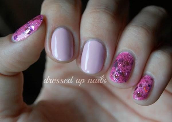 Nail Art com tons de rosa