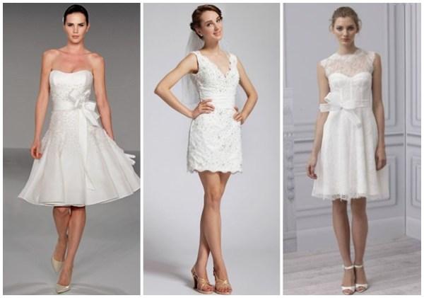 vestidos de noiva modernos curtos