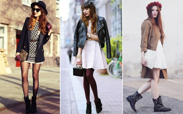 Vestidos de verão com acessórios para o inverno