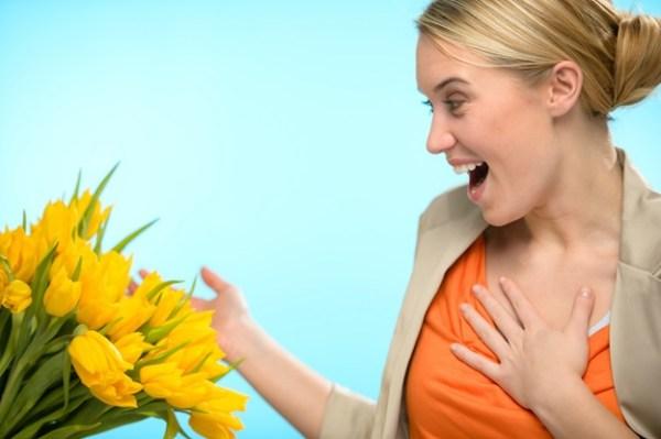 Flores para presentear a secretária