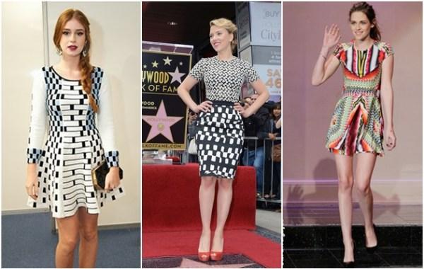 Vestidos verão 2015 com estampas geométricas