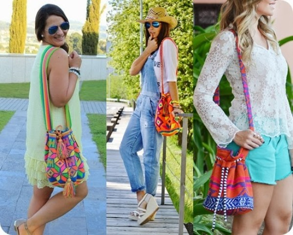 Bolsa Saco colorida
