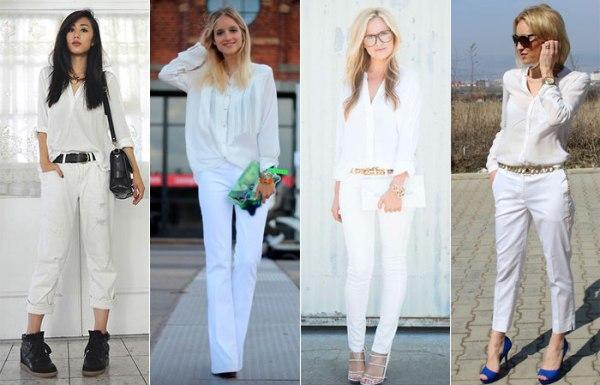 Camisa branca + branco