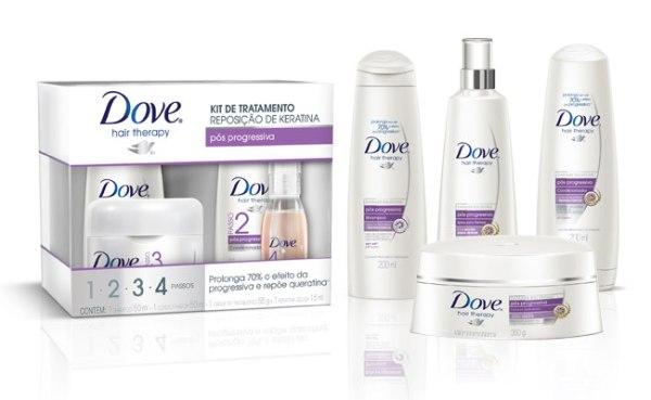 Dove oferece linha de produtos para reparação dos fios loiros