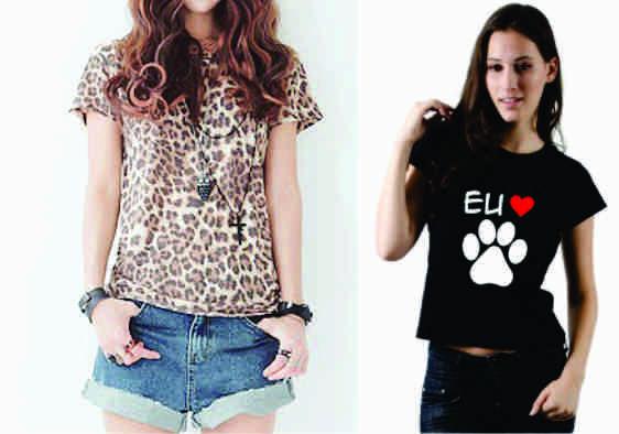 Camisetas para mulheres estampa com Animal Print