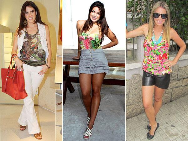 Camisetas para Mulheres com Estampas tropicais