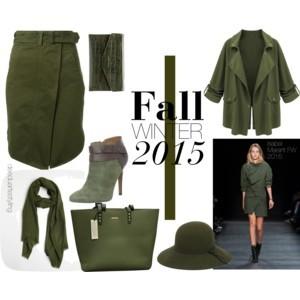 look militar na moda inverno 2015