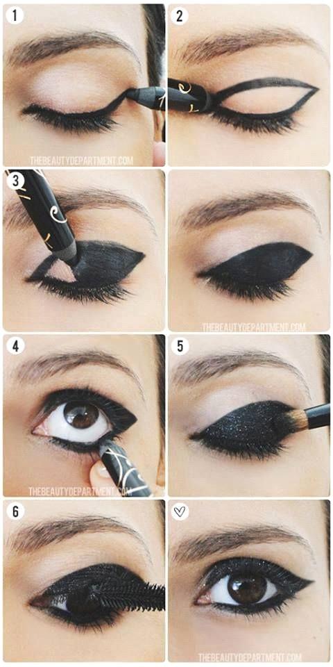 Tutorial de maquiagem para combinar com vestido preto
