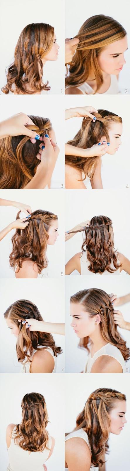 penteados bonitos para cabelos ondulados