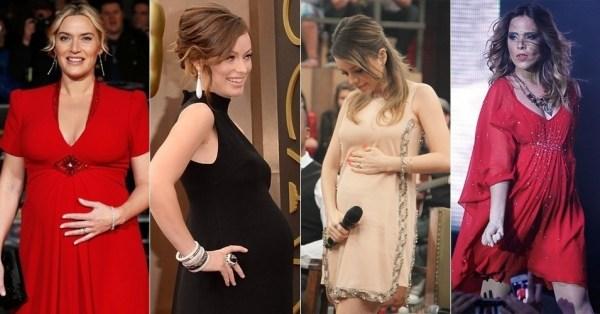 criar looks com vestidos de festa para grávidas