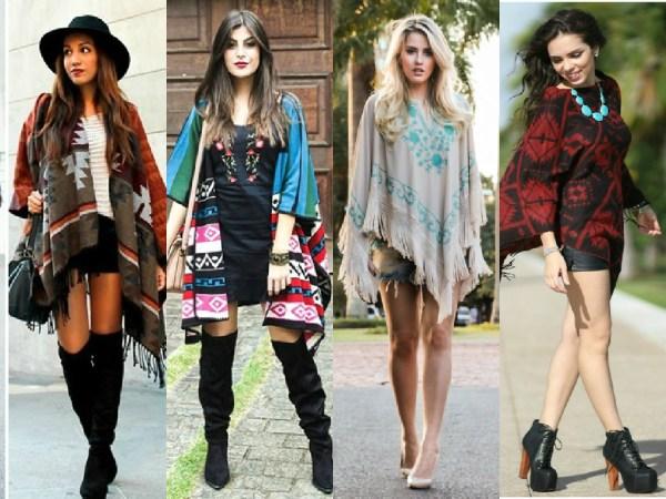 veja como combinar poncho com saias, vestidos e shorts