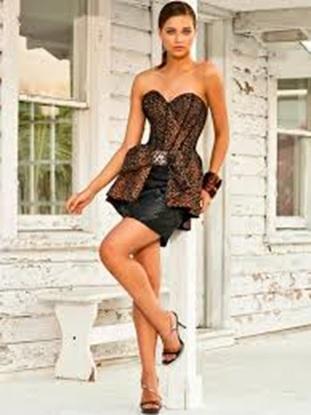 vestidos para afinar a cintura com espartilhos