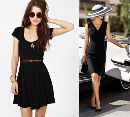 look com vestido preto