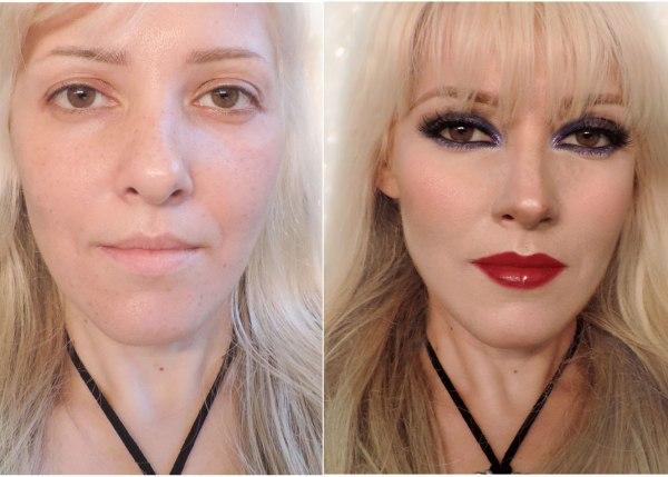 exemplo de maquiagem que afina o nariz