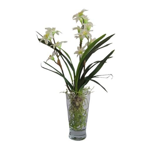 planta artificial com vaso decorativo