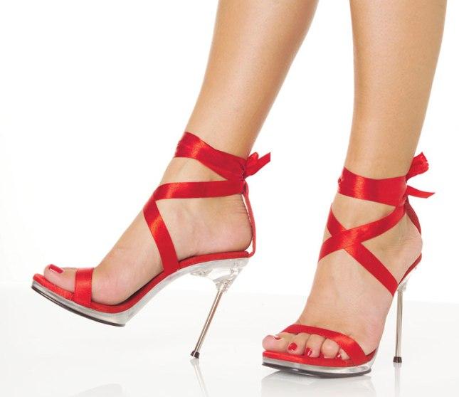 Sandália Vermelha de Salto Alto