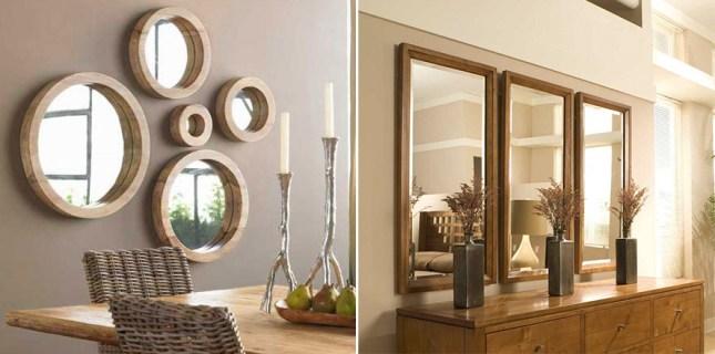 modelo de decoração com espelhos
