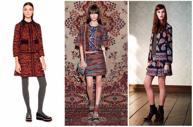 Conjuntos estampados entre as tendências da moda outono inverno 2016