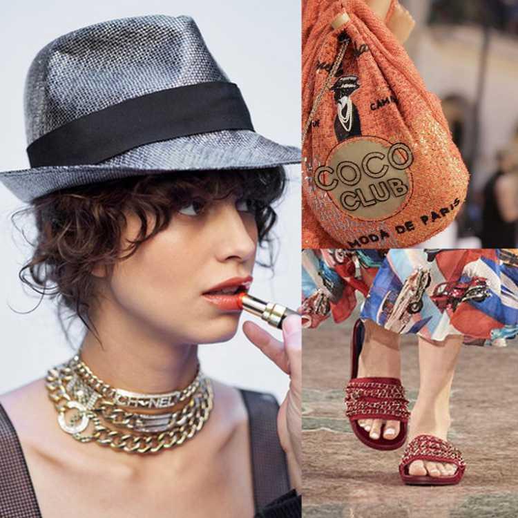 O desfile da Chanel em Cuba acendeu ainda o alerta da tendência do chapéu com essa pegada latina e das sandálias rasteiras, mas cheias de charme com aplicações.