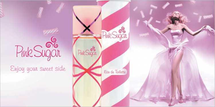 Pink Sugar é um perfume que contém todos os tipos de aromas doces e açucarados.