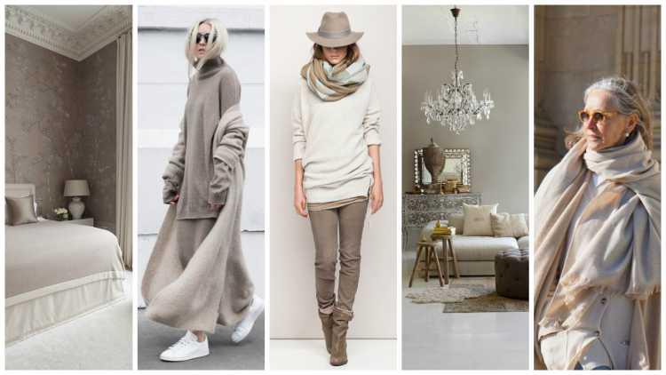 moda inverno 2016 na cor greige