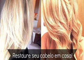 Restaure seu cabelo em casa