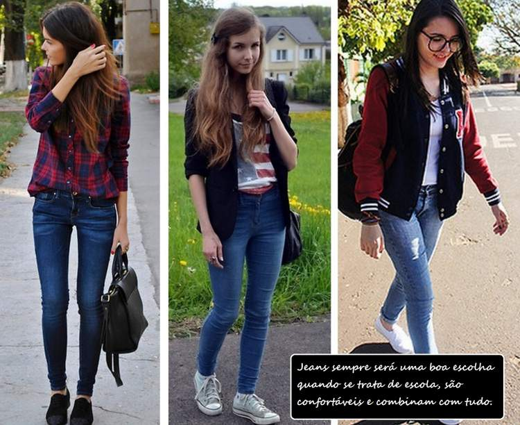 Com qual roupa eu vou a escola