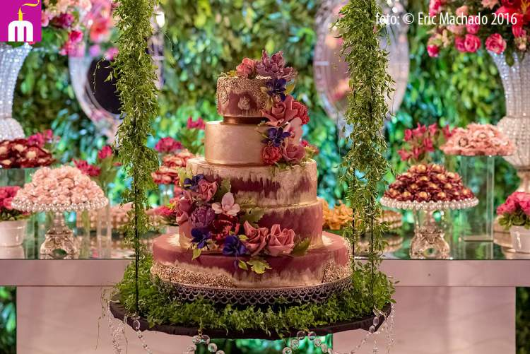 bolo de casamento que é tendência para 2017