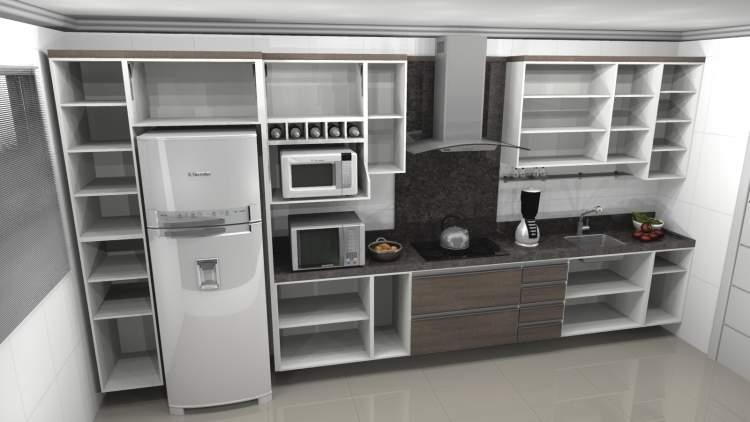 cozinha compactada na parede