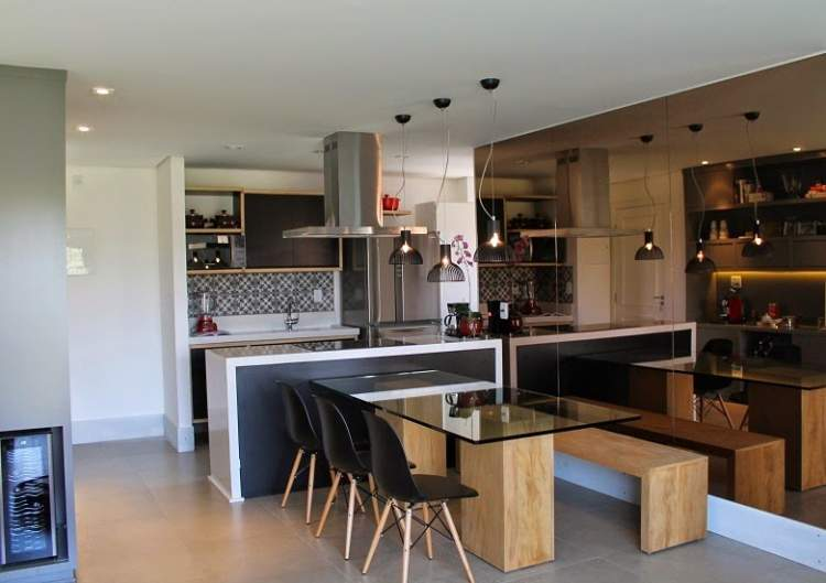 cozinha integrada com a copa