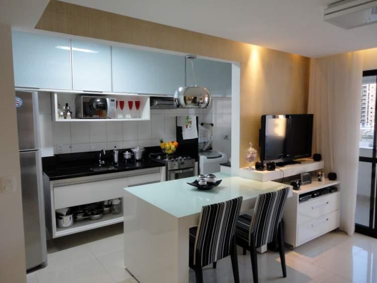 cozinha integrada compacta