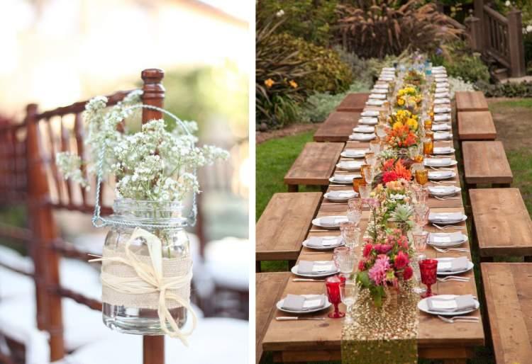 estilo rústico na decoração de casamento