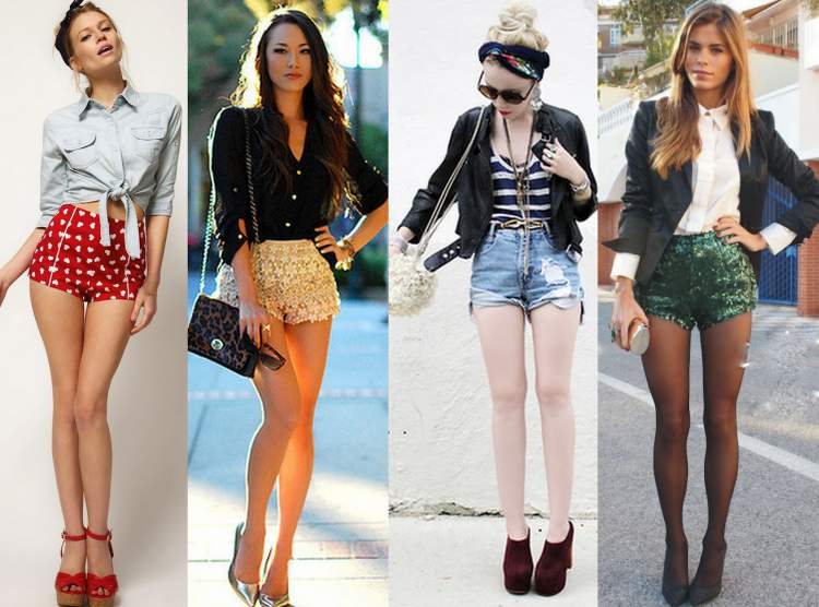 Look com shorts bem curto