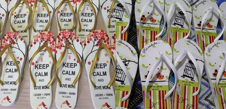 chinelos personalizados para dar como recordação