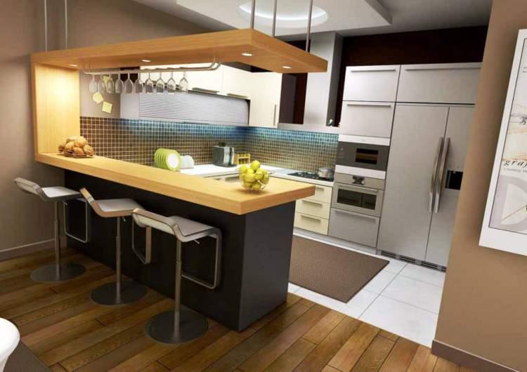 decoração de cozinha americana