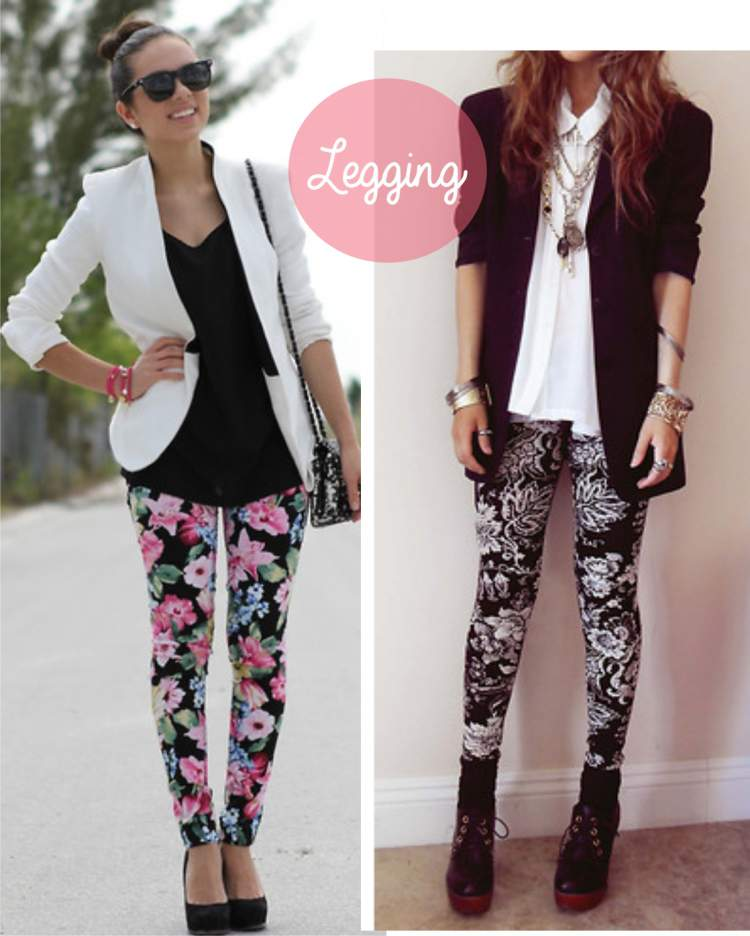 Look com legging estampada