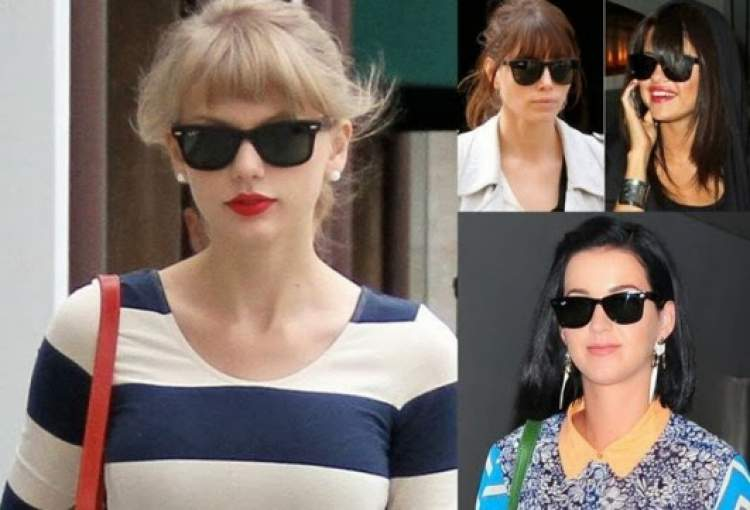 famosas usando óculos de sol modelo wayfarer