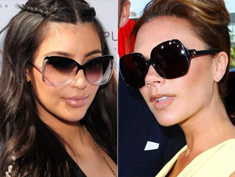 mulheres usando óculos de sol quadrado