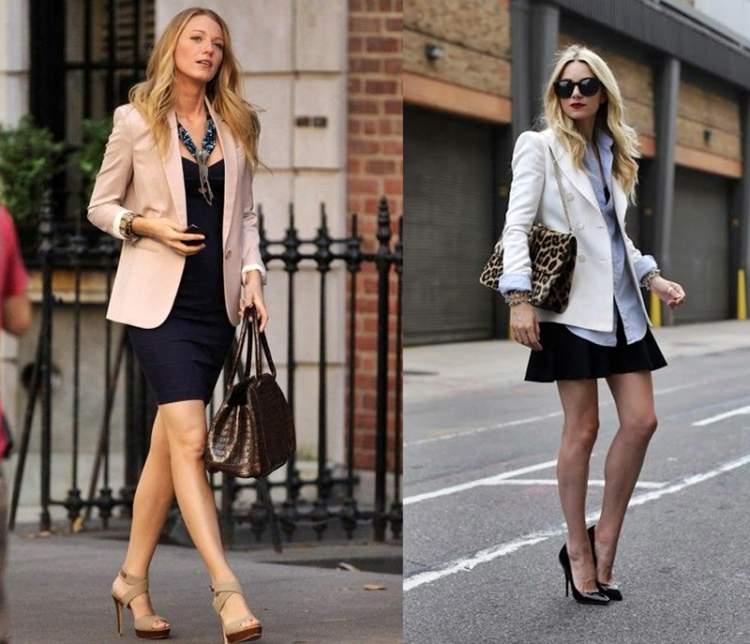 Look para para enfrentar o ar-condicionado e o calor da rua: Vestido com Blazer ou Saia com Blazer