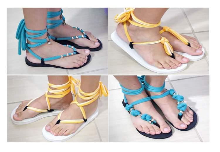 sandálias customizadas são mais confortáveis