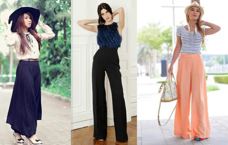 Maxi Calças entre as tendências da moda verão 2017