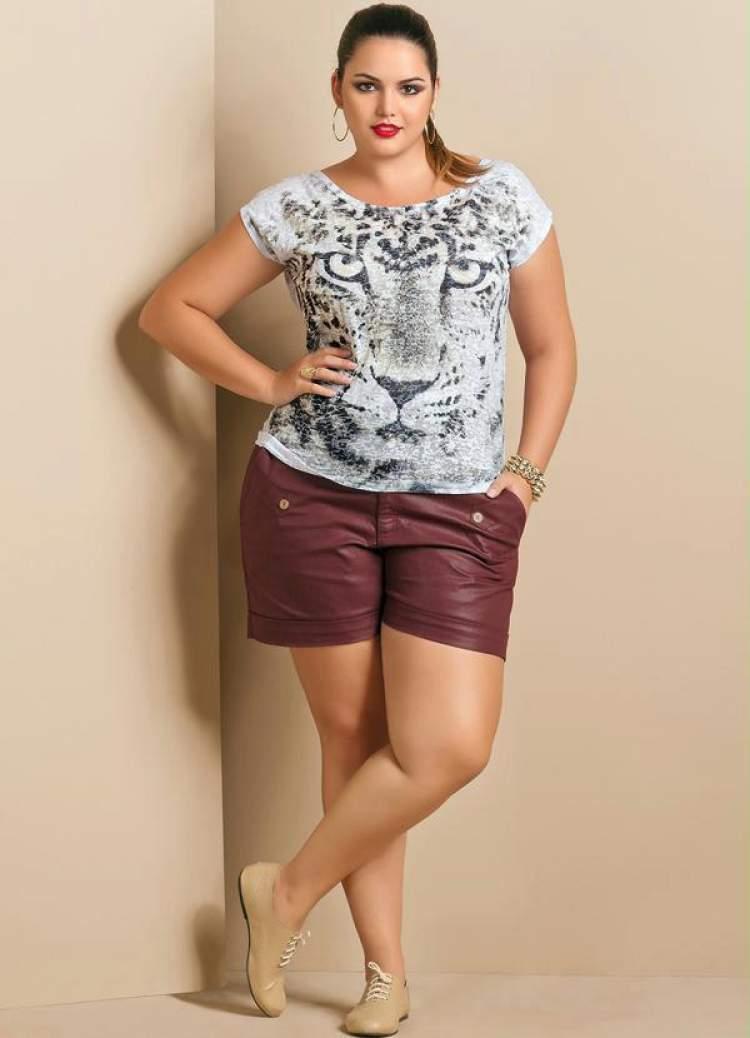 Como usar o shorts da moda plus size 2017