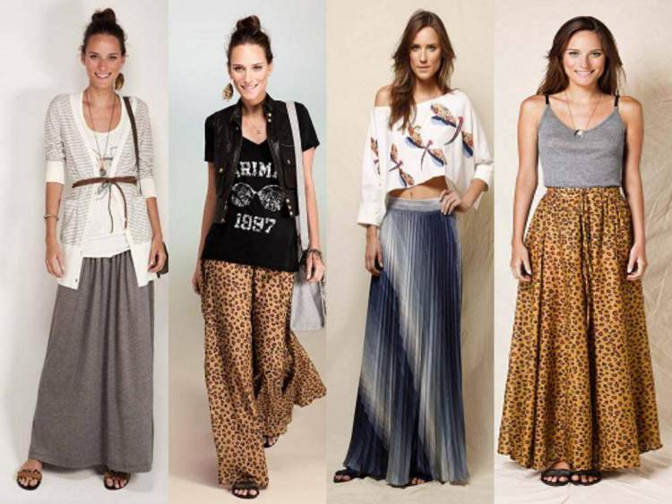 modelos de saia longa