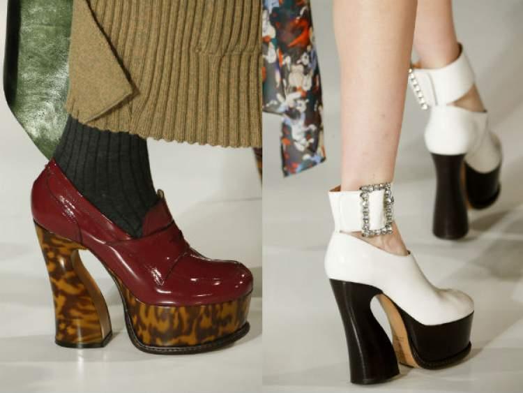 Plataformas estilo anos 70 são tendências entre calçados para o inverno 2017