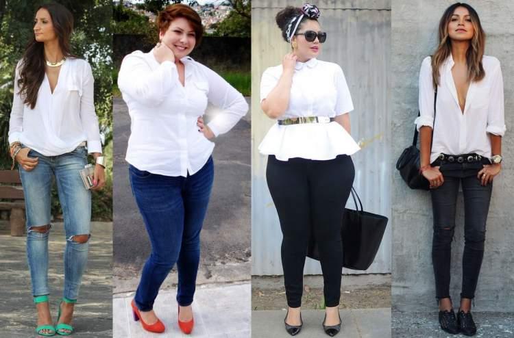 Camisa branca cai bem em qualquer mulher