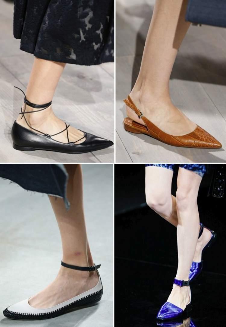 Sapatos com bico fino são tendências da moda inverno 2017