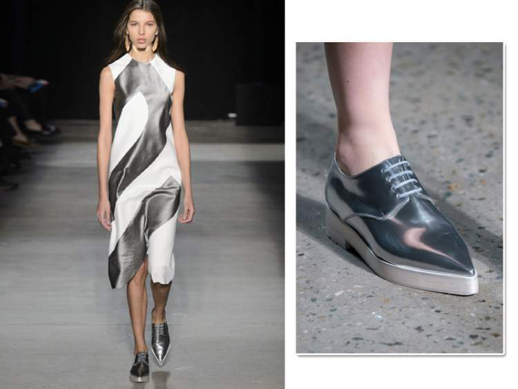 Sapatos masculinos são tendências da moda feminina para o inverno 2017